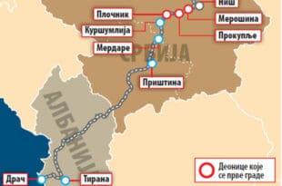 """Аутопут и железница НИШ-МЕРДАРЕ- ПРИШТИНА – лажни НАТО и """"великоалбански """"пут мира"""""""