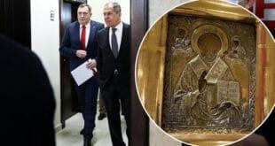 Украјина без доказа да је Лаврову поклоњена икона њена баштина
