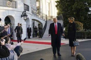 Трамп напустио Белу кућу: Ово је збогом, али надам се не заувек (видео)