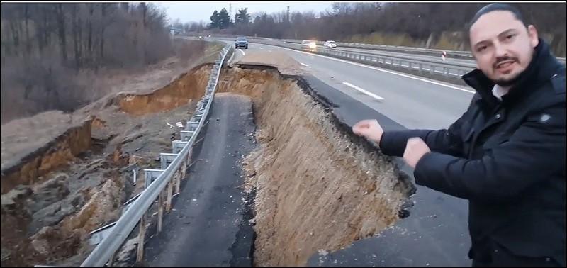 Одрон на тек изграђеном аутопуту, плаћеном десетинама милиона евра (фото, видео)