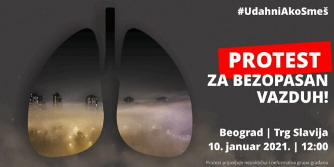 За чист ваздух у Србији: Сви на улице, у недељу 10. јануара тачно у подне креће еколошки устанак!