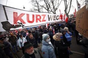 Протести у Бечу против рестриктивних корона мера (видео)