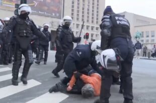Белгија: Полицијска репресија и хапшења људи који протестују против антикорона мера у Бриселу (видео)