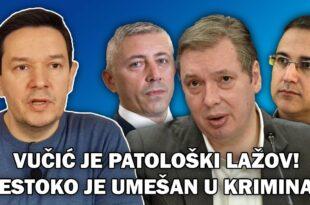 Немања Шаровић: Вучић је патолошки лажов који је до гуше умешан у организовани криминал (видео)