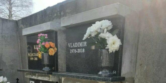 Нова бизарност у вези ликвидираног Владимира Цвијана - надгробна плоча без презимена