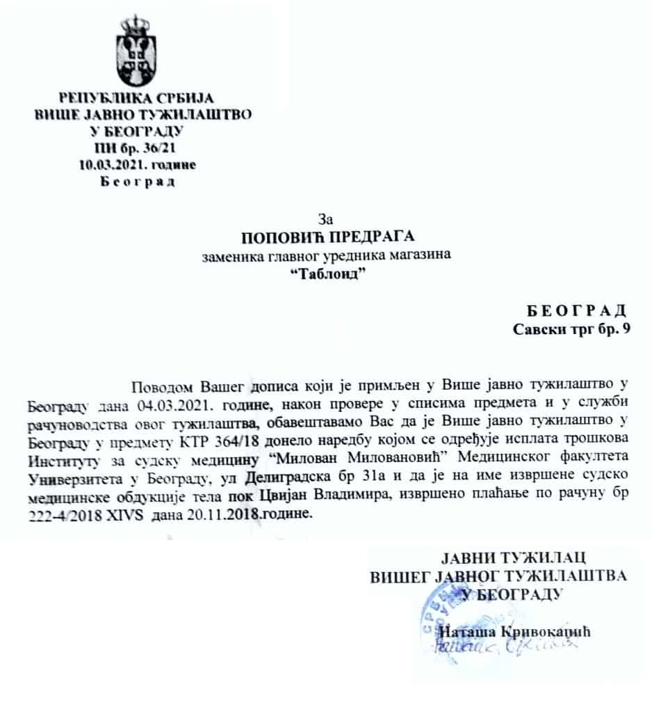 Трагични случај Владимира Цвијана: МРТВА УСТА НЕ ГОВОРЕ