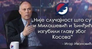 Игор Ивановић: Није случајност што су и Милошевић и Ђинђић изгубили главу због Косова (видео)