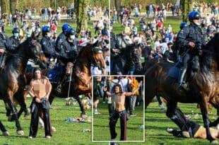 Полиција учеснике забаве у парку у Бриселу растеривала коњима, воденим топовима и сузавцем (видео)