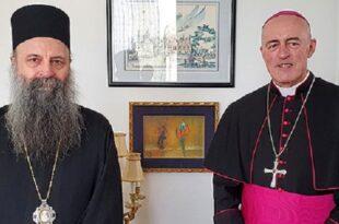 ПАПОЉУБАЦ се у Загребу срео са Апостолским нунцијем монсињором Ђорђем Лингвуом