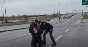Канадски ГЕСТАПО на сред аутопута ухапсио пастора који их је избацио из цркве (видео)