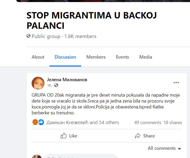 Група од 20 миграната, напала девојчицу у Бачкој Паланци, режимски и окупациони медији ни да писну!