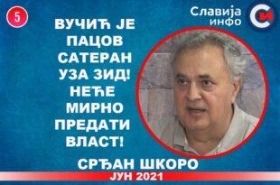 ИНТЕРВЈУ: Срђан Шкоро - Вучић је пацов сатеран уза зид! Неће мирно предати власт! (видео)