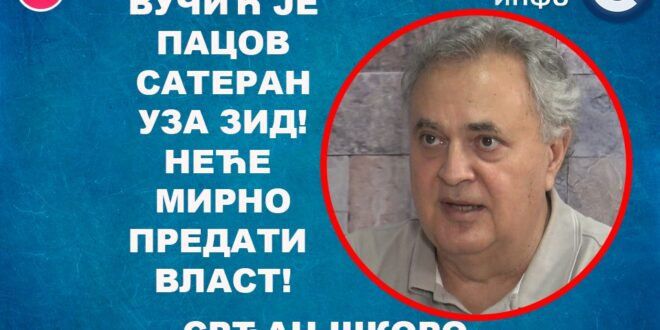ИНТЕРВЈУ: Срђан Шкоро – Вучић је пацов сатеран уза зид! Неће мирно предати власт! (видео)