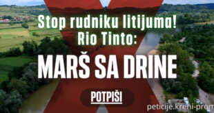 Економски убица Вучић напао народну петицију против Рио Тинта и тровања Србије!