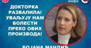 ИНТЕРВЈУ: Бојана Мандић - Докторка развалила! Уваљују нам болести преко ових производа! (видео)
