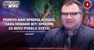 ИНТЕРВЈУ: Алек Рачић - Поново спремају хаос, морамо бити спремни за нову поделу света! (видео)
