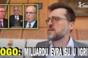Ного: Вучић, Мишковић и Беко спремају пљачку века, ево зашто је ухапшен Јовичић (видео)