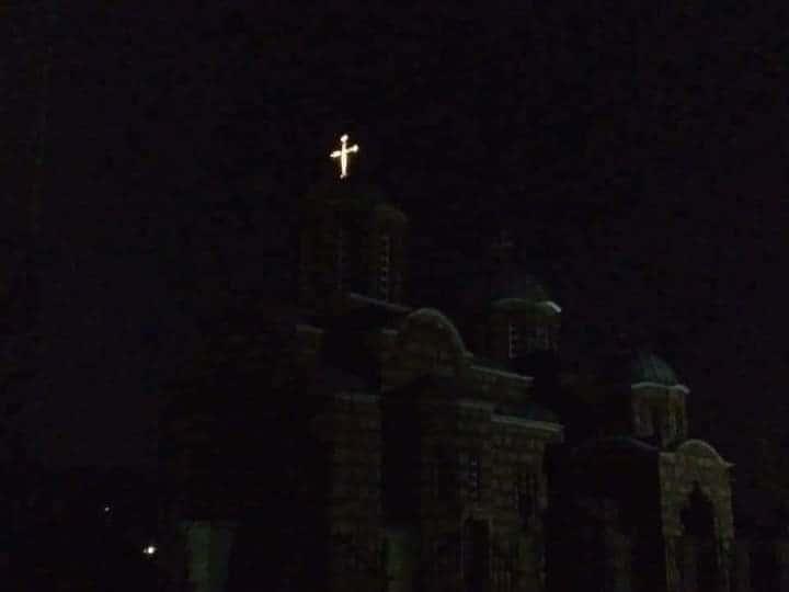 Прилужје: Шиптарска електро-дистрибуција угасила цркви струју ал крст на цркви и даље сија!