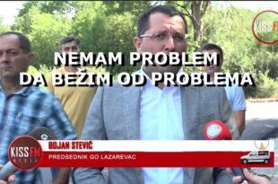 Лазаревац: Напредњачки председник општине Стевић јавно признао да бежи од проблема! (видео)