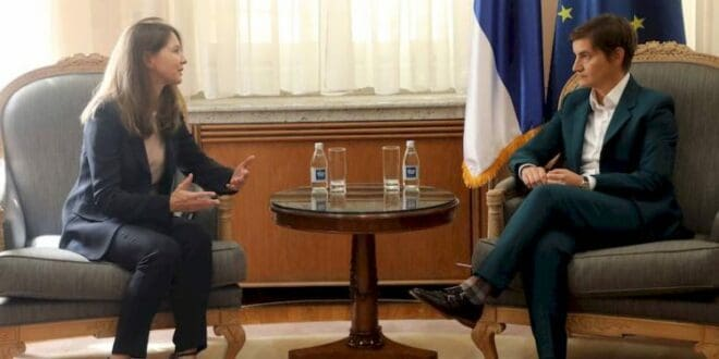 Брнабић са шефицом ММФ о структурним реформама и финансијској стабилности Србије