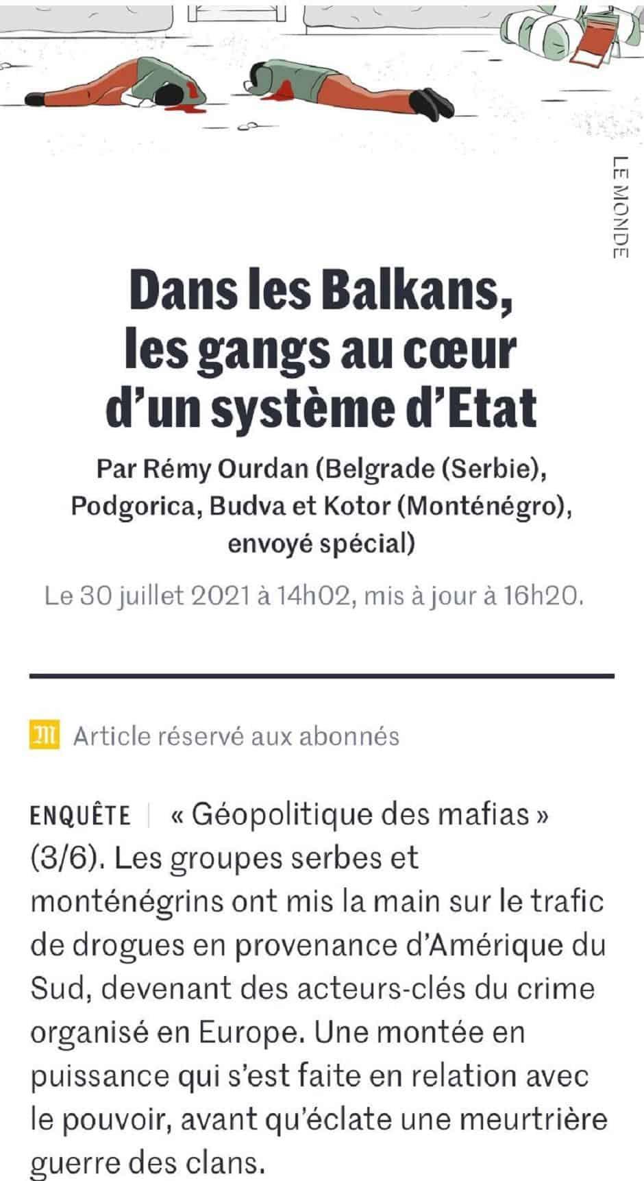 Француски медији: Вучићеве и Милове везе са организованим криминалом и нарко мафијом!