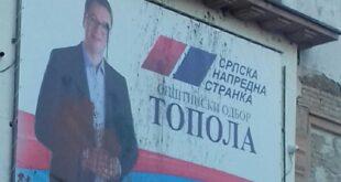 """Седам сати испитивања због сумње да је """"демолирао"""" билборд с Вучићем!"""
