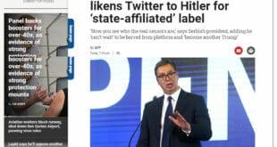 АФП: Српски прорежимски медији пореде Твитер са Хитлером