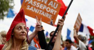 Француска: Шести викенд масовних протеста због ковид пропусница (видео)