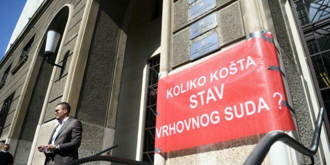 Почео протест адвоката: Блокирана Немањина, запослени раније напустили Врховни суд