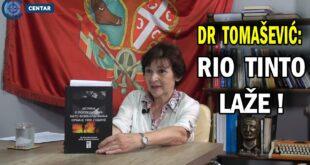 др Милица Томашевић: Због Рио Тинта ће масовно умирати од рака, вода ће бити отров (видео)