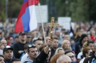 У Љубљани поново масовни протест против присилне вакцинације! (видео)