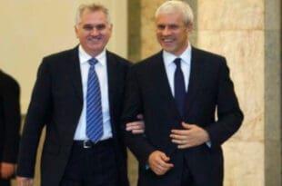 После састанка са Борисом Тадићем, Томислав Николић поднео оставку на све функције у СРС