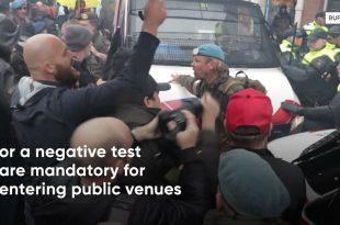 Амстердам: Жестоки сукоби противника ковид аусвајса са полицијом (видео)