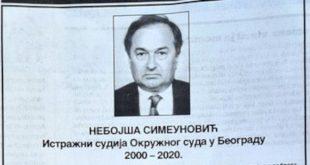 Пре 20 година у Дунаву пронађено тело истражног судије Небојше Симеуновића